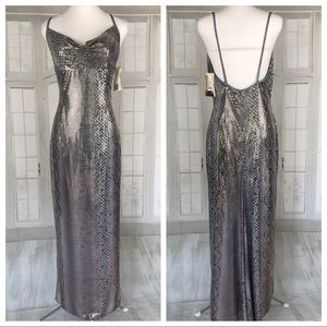 Vintage Jessica McClintock Sexy Maxi Dress Size 10